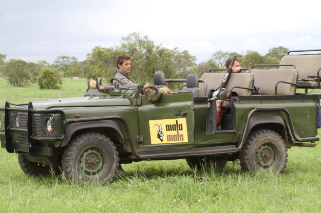 Dean Wraith (left) and Hans van Heerden taking a break between jackal shots.